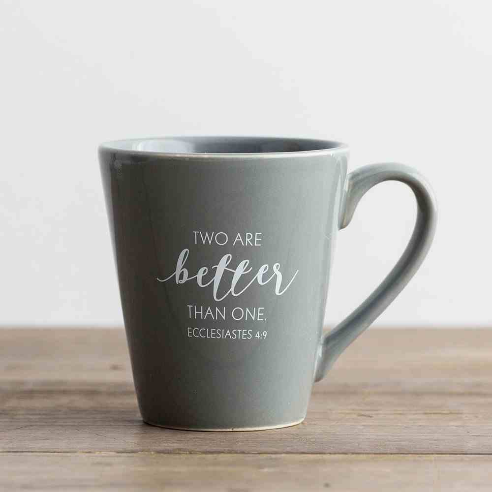 Ceramic Mug: Mr - Two Are Better Than One, Grey (Ecc 4:9) Homeware