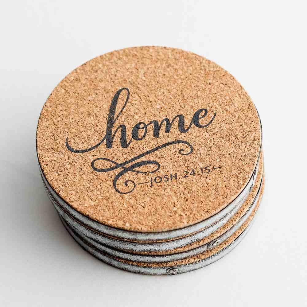 Cork Farm Coaster Set of 4: Home; Blessed; Grateful; Farm (Various Scripture Verses) Homeware