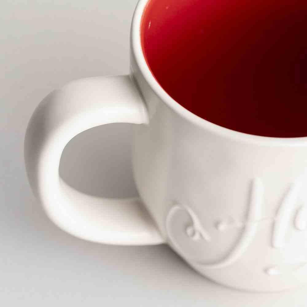 Ceramic Christmas Mug: Hope, Embossed Detail on Front (Romans 15:13 On Back) Homeware