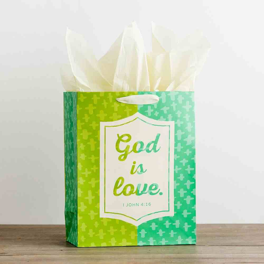 Gift Bag Large: God is Love (Incl Two Sheets Tissue Paper & Gift Tag) Stationery