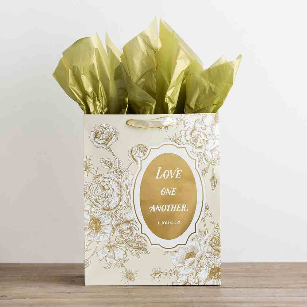 Gift Bag Large: Love One Another (Incl Two Sheets Tissue Paper & Gift Tag) Stationery