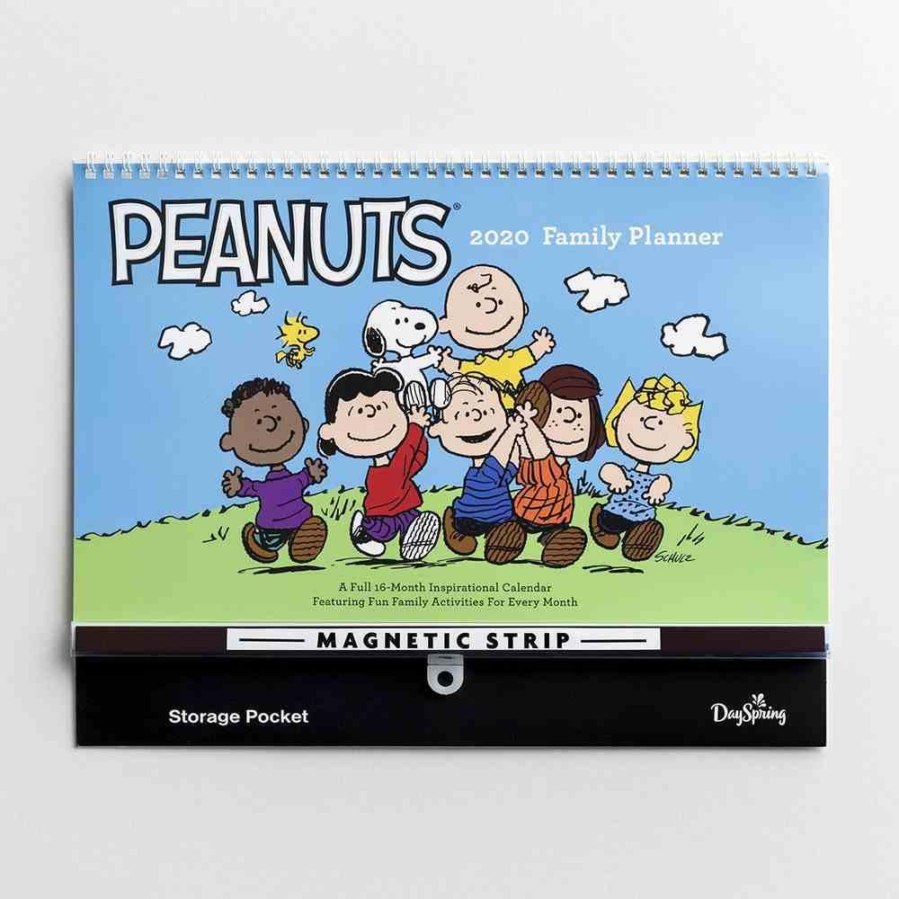 2020 16-Month Family Calendar/Planner: Peanuts Spiral