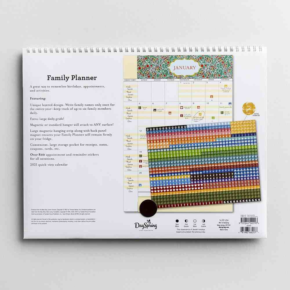 2020 16-Month Family Calendar/Planner: Floral, Make Each Day Count Spiral
