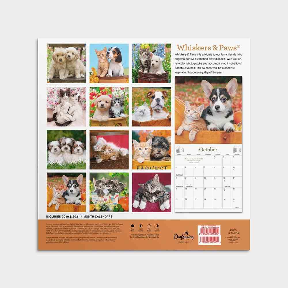 2020 Wall Calendar: Whiskers & Paws Calendar