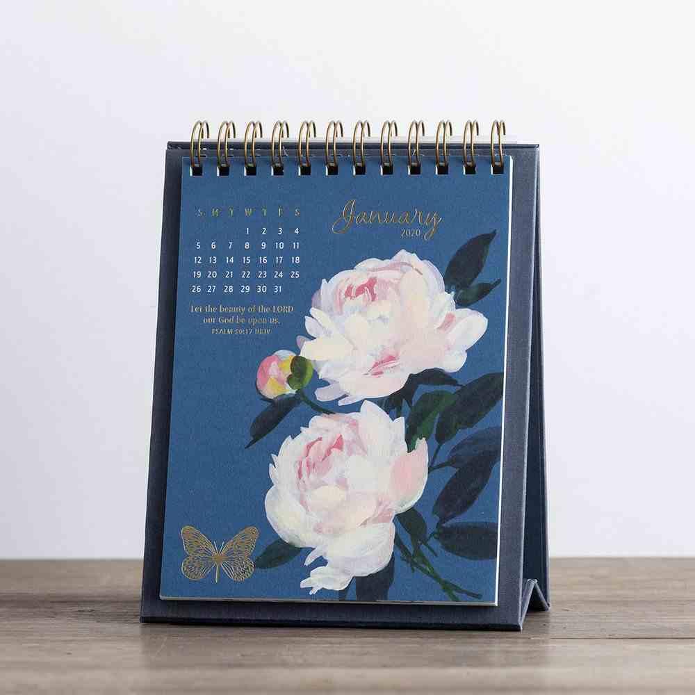 2020 Desktop Calendar: Floral Spiral