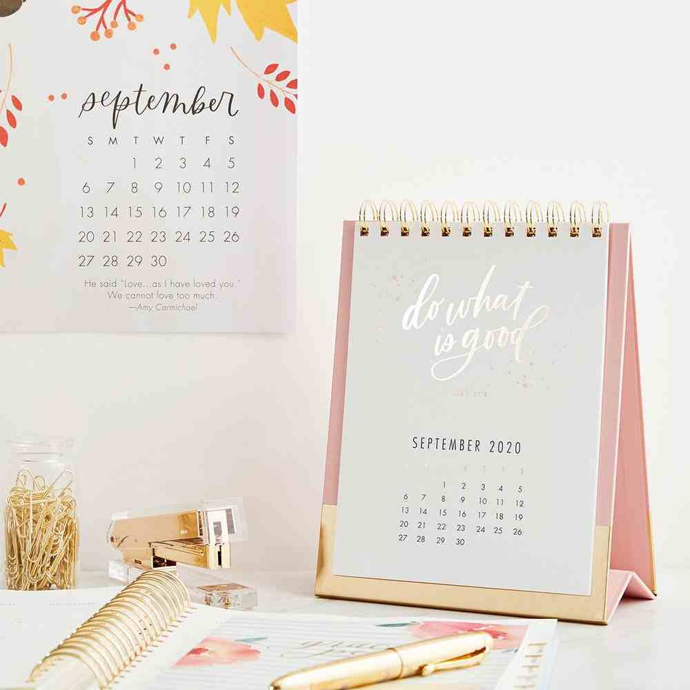 2020 Desktop Calendar: Be Still & Know Spiral