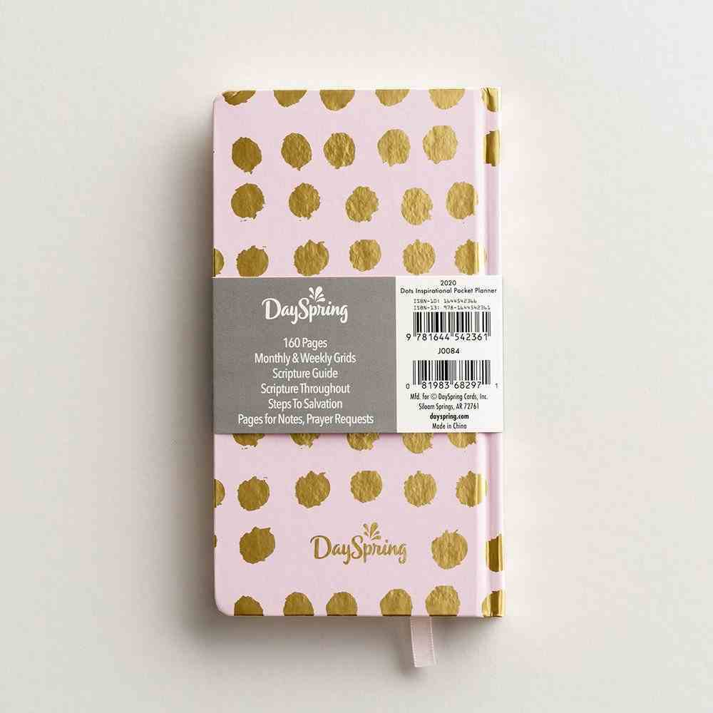 2020 Premium Pocket Weekly Diary/Planner: Black Dots, Cream Background, Gold Foil Paperback