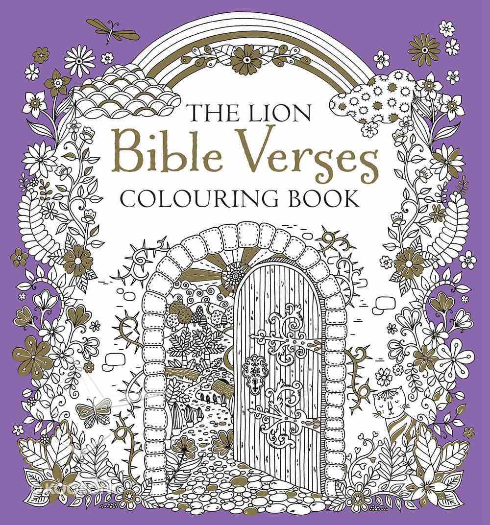The Lion Bible Verses Colouring Book Paperback