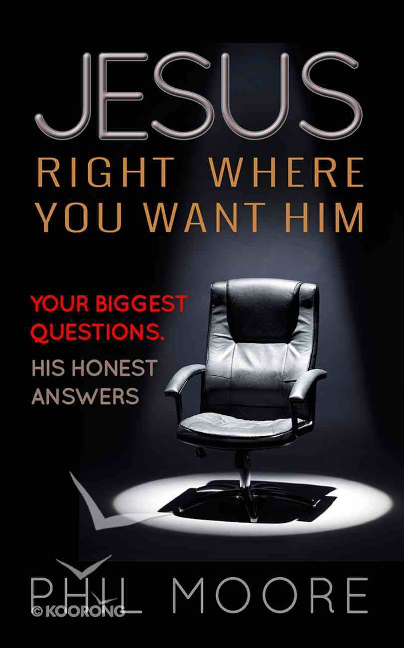 Jesus, Right Where You Want Him Paperback