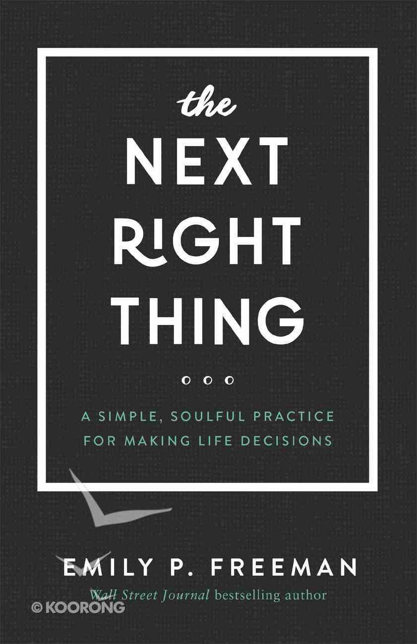 The Next Right Thing eBook