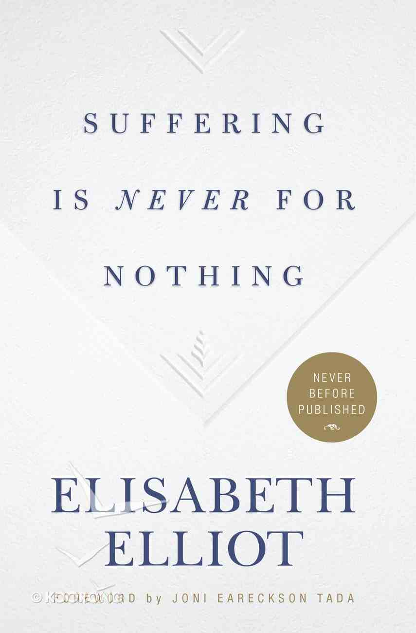 Suffering is Never For Nothing eBook
