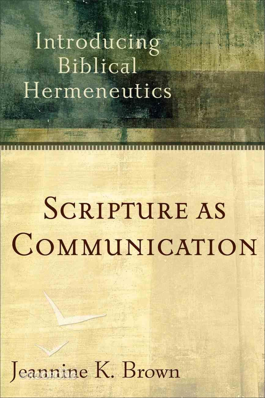 Scripture as Communication eBook