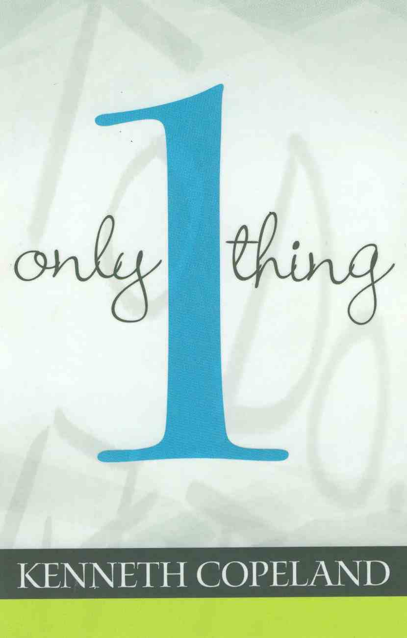 Only One Thing eBook