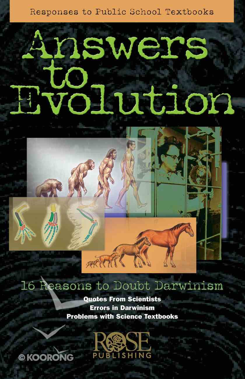 Answers to Evolution (5 Pack) (Rose Guide Series) Pamphlet