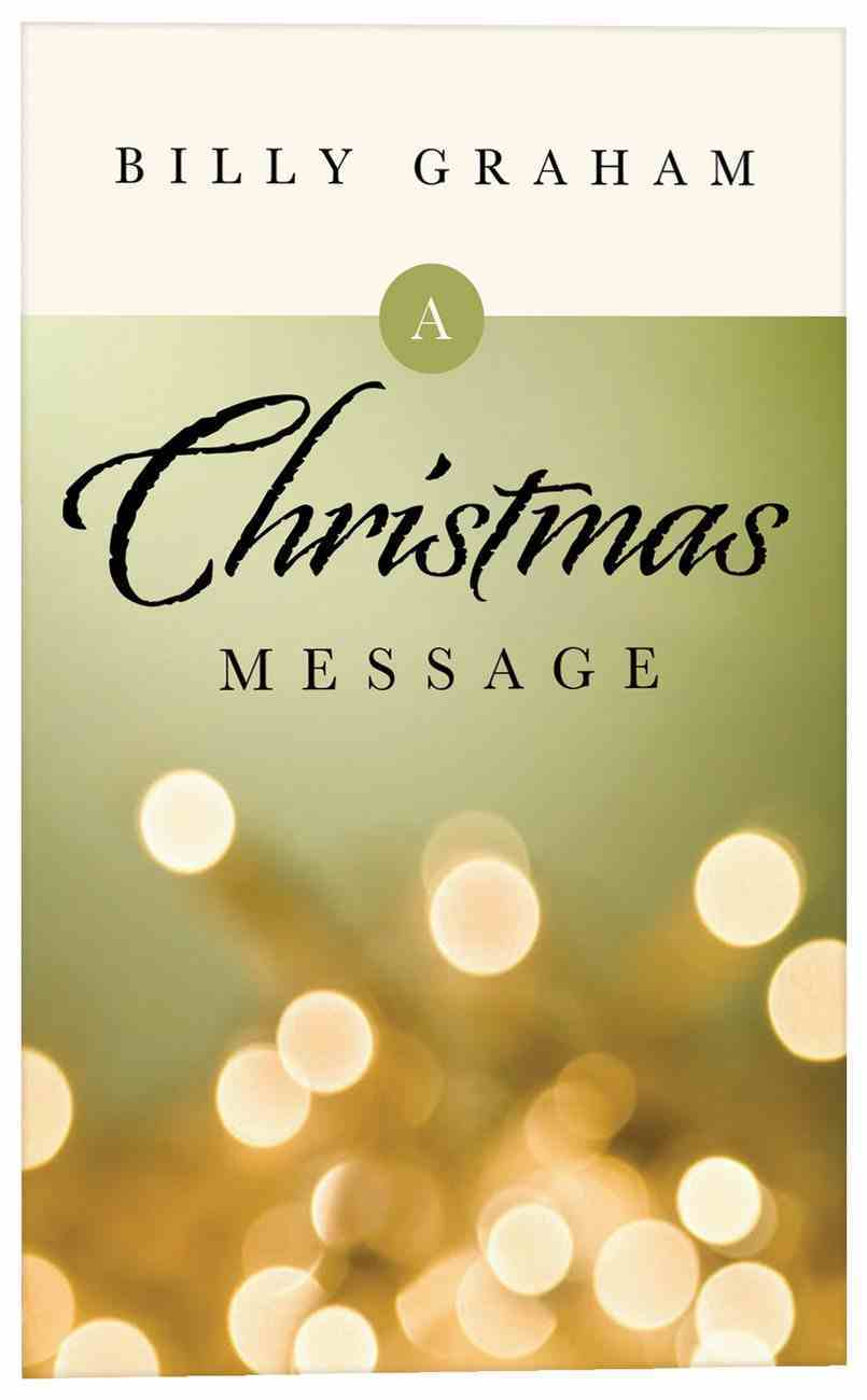 A Christmas Message (Pack Of 25) Booklet