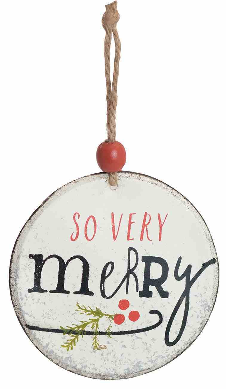 Christmas Metal Round Tree Ornament: So Very Merry Homeware