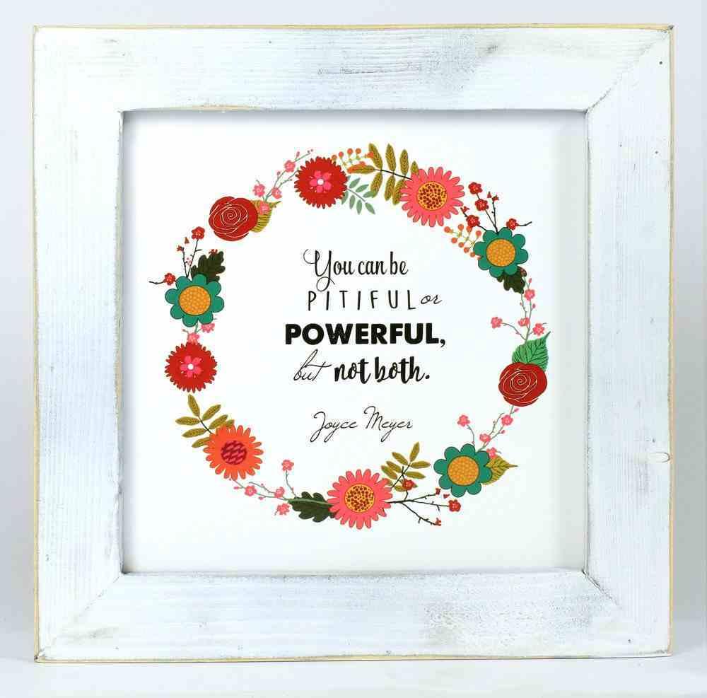 Joyce Meyer Framed Box Plaque: Send Faith, White/Colored Floral Wreath Plaque