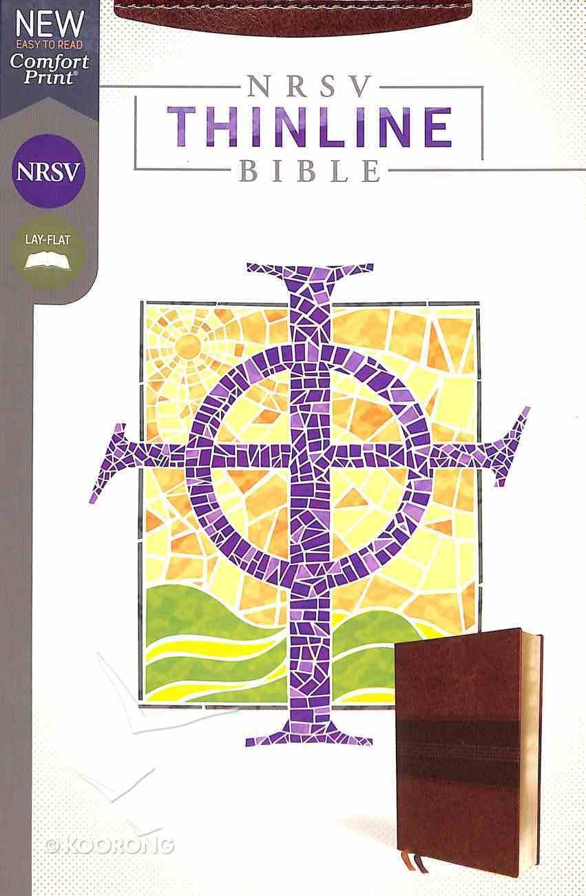 NRSV Thinline Bible Brown Premium Imitation Leather