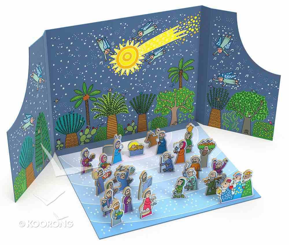 The Birth of Jesus Advent Calendar and Nativity Scene Board Book