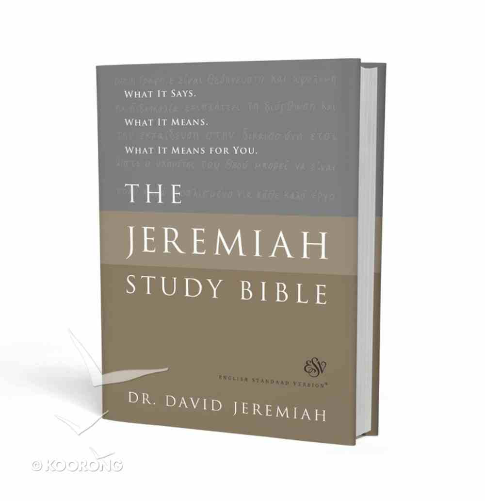 ESV Jeremiah Study Bible Hardback