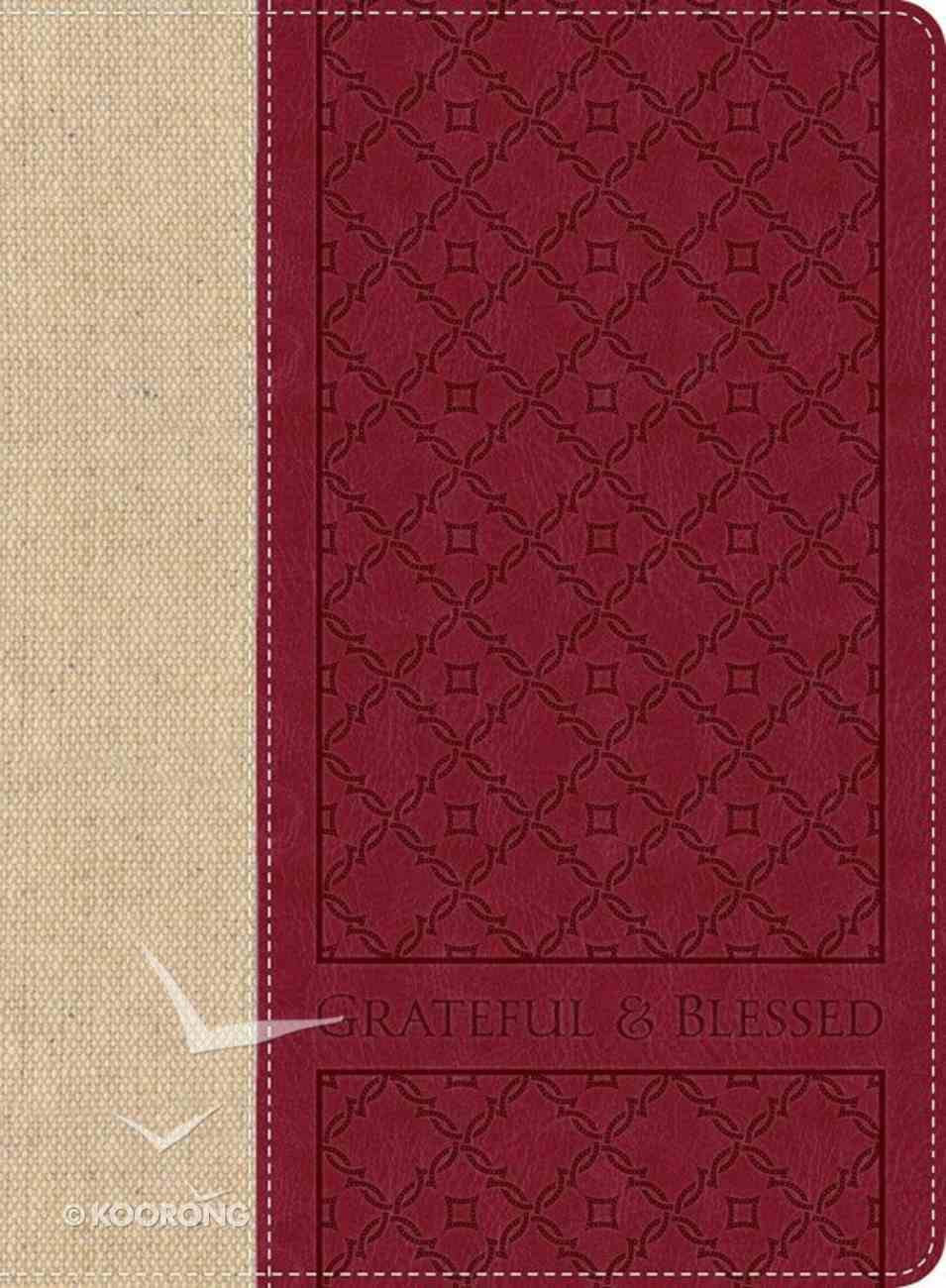 Journal: Grateful & Blessed With Elastic Closure Imitation Leather