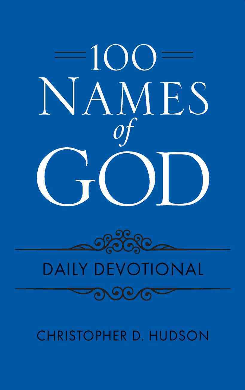 100 Names of God Daily Devotional, Blue Imitation Leather