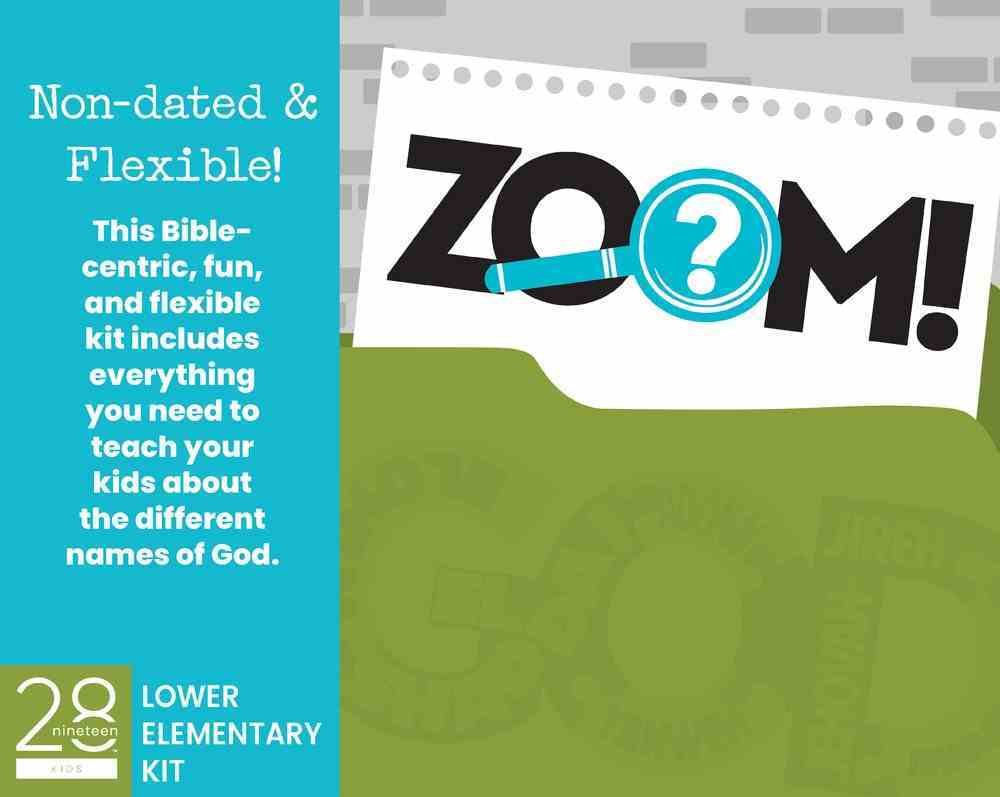The Names of God Lower Elementary Kit (Incl Leader Guide, Posters, & Leader Resource Disc) (Zoom! Curriculum Series) Pack