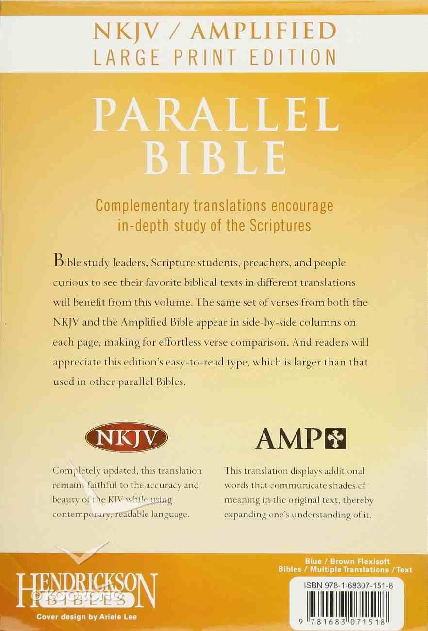 NKJV Amplified Parallel Bible Large Print (Black Letter Edition) Imitation Leather