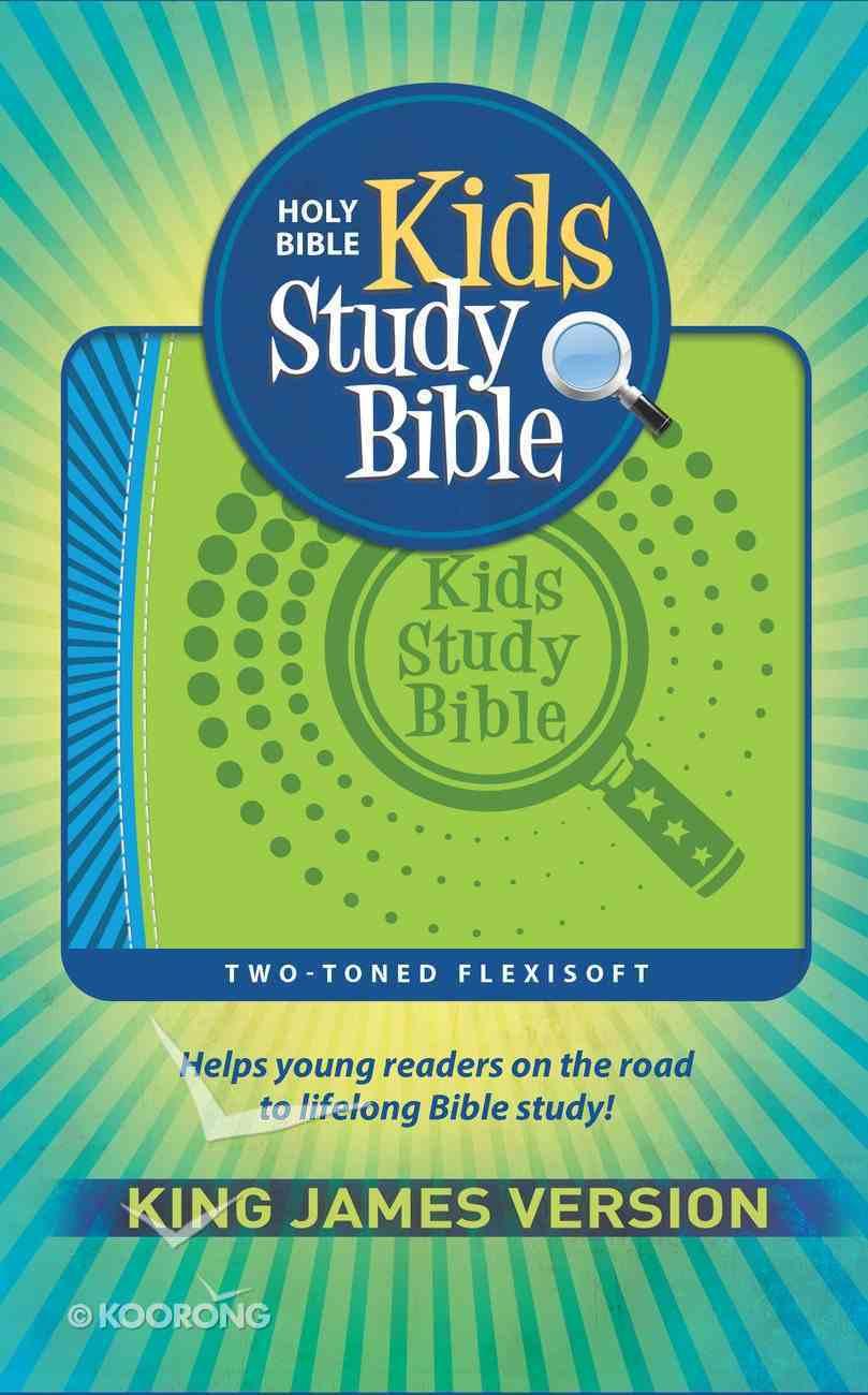 KJV Kids Study Bible Flex Blue Green (Red Letter Edition) Flexi Back