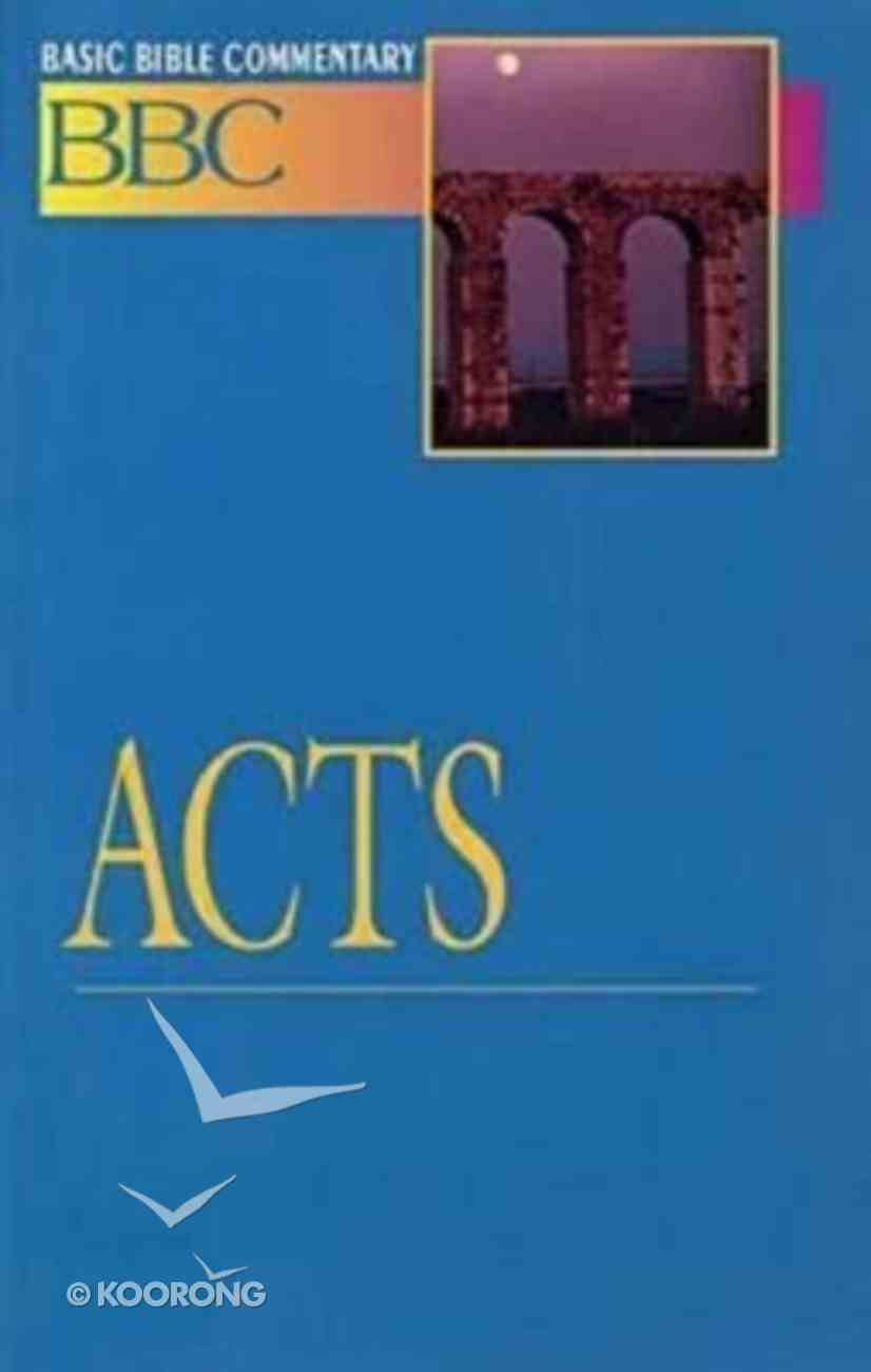 Acts (#21 in Basic Bible Commentary Series) Paperback