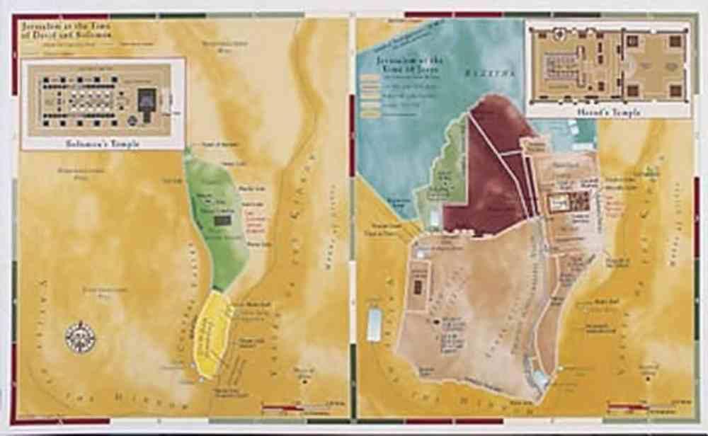 Jerusalem - Old Testament/New Testament Comparison (Abingdon Bible Land Maps Series) Chart/card