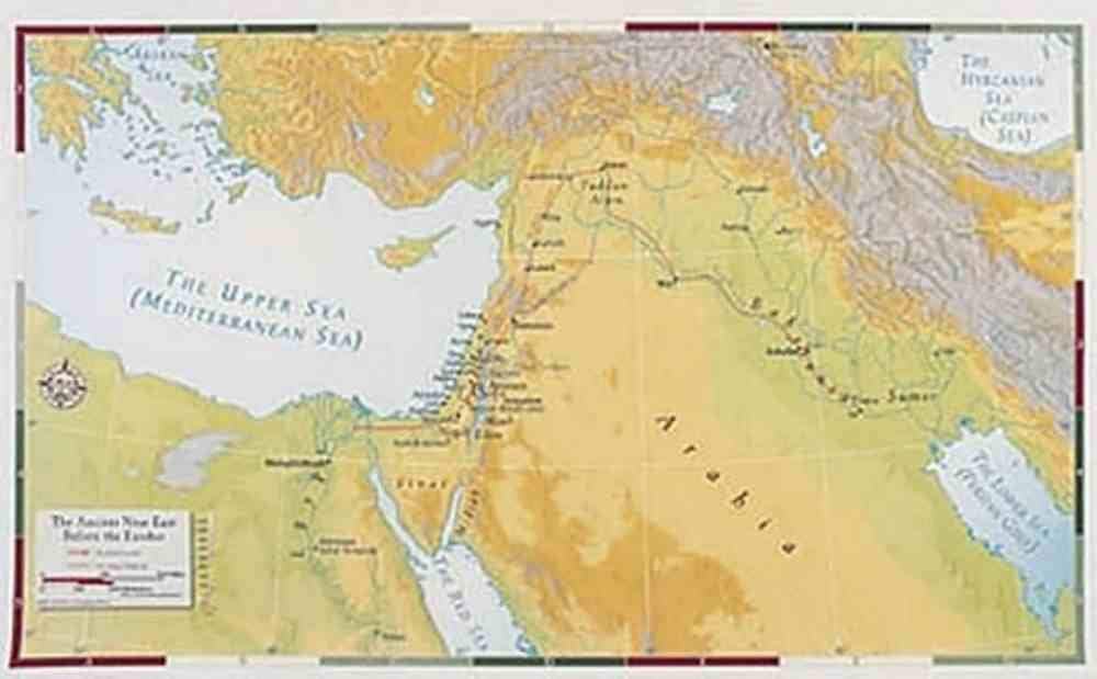 The Ancient Near East Before the Exodus (Abingdon Bible Land Maps Series) Chart/card