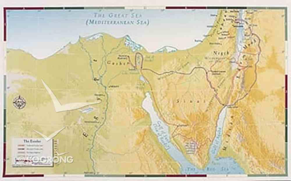 The Exodus (Abingdon Bible Land Maps Series) Chart/card