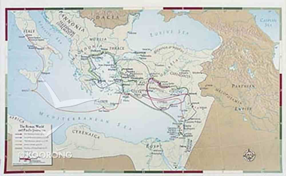 Paul's Journeys (Abingdon Bible Land Maps Series) Chart/card