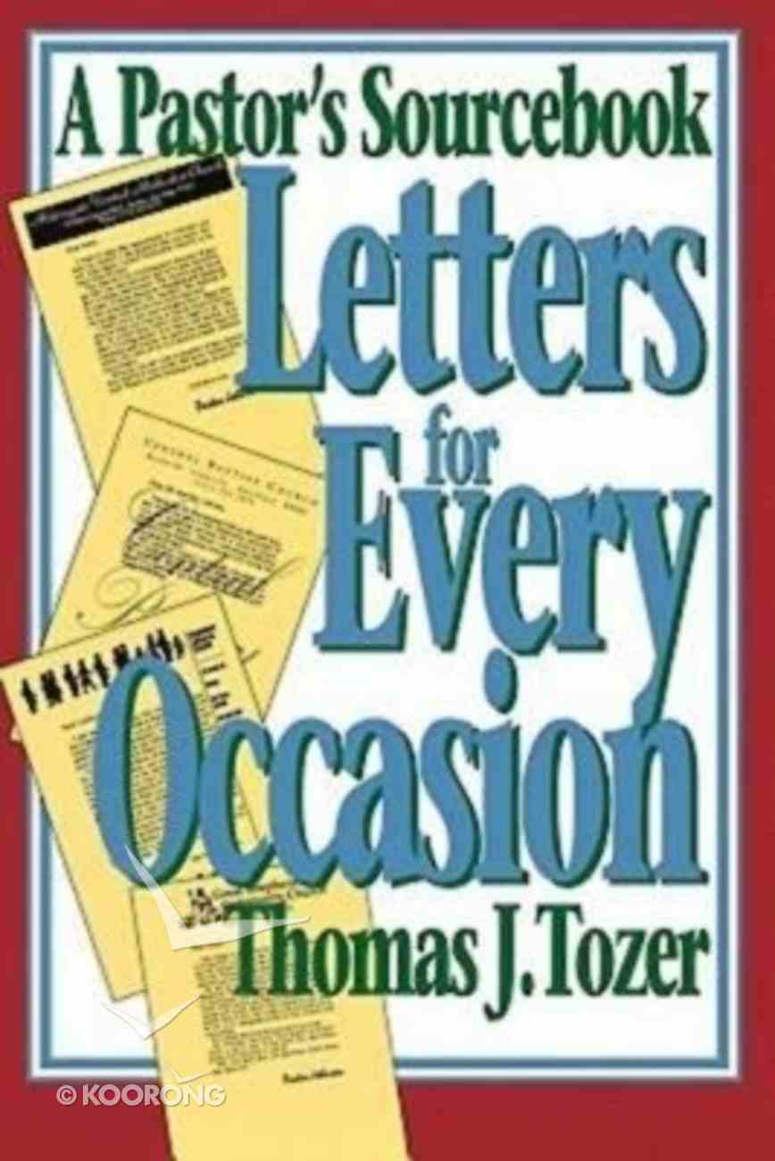 Letters For Every Occasion Paperback