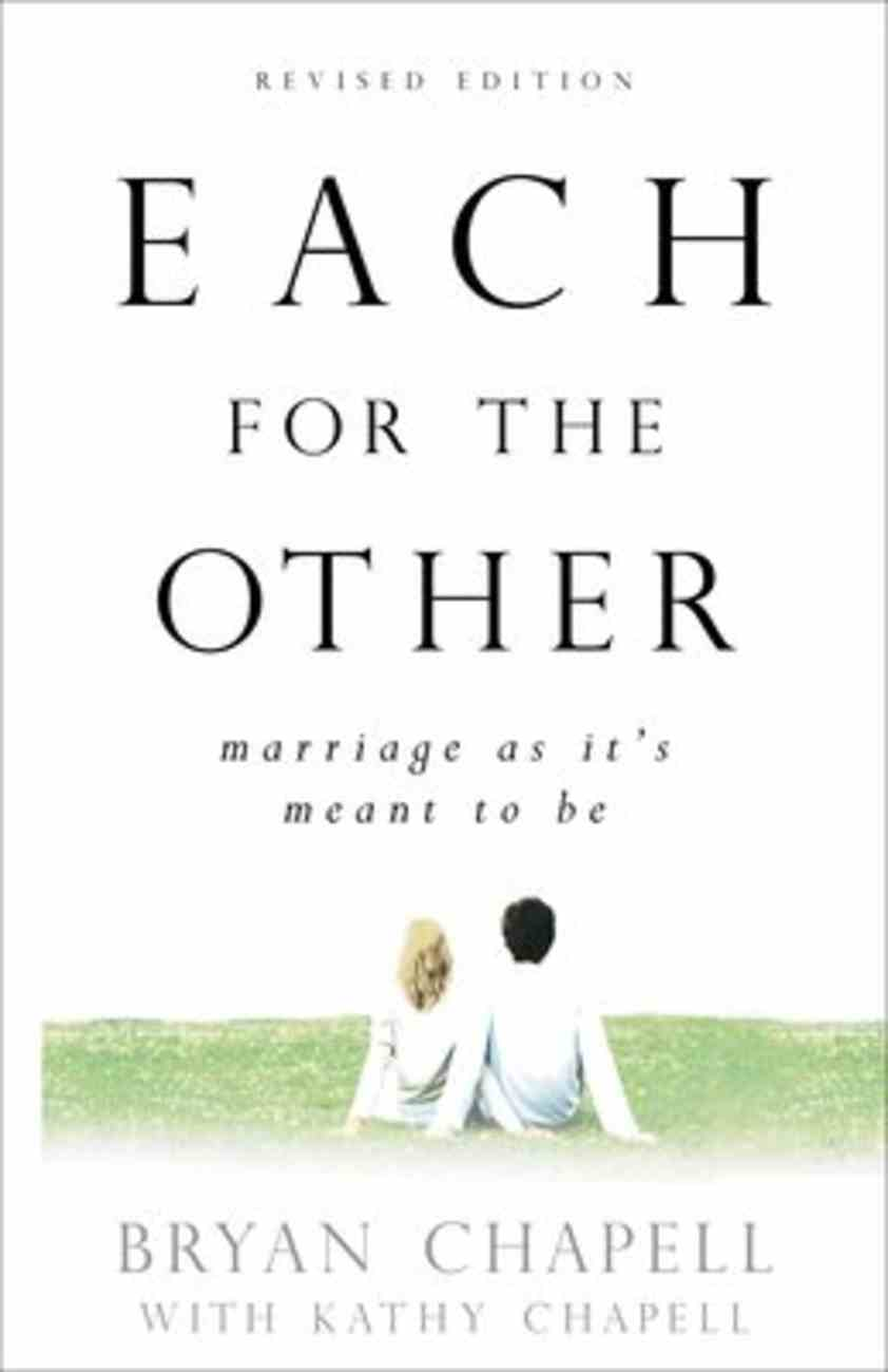 Each For the Other: Marriage as It's Meant to Be Paperback