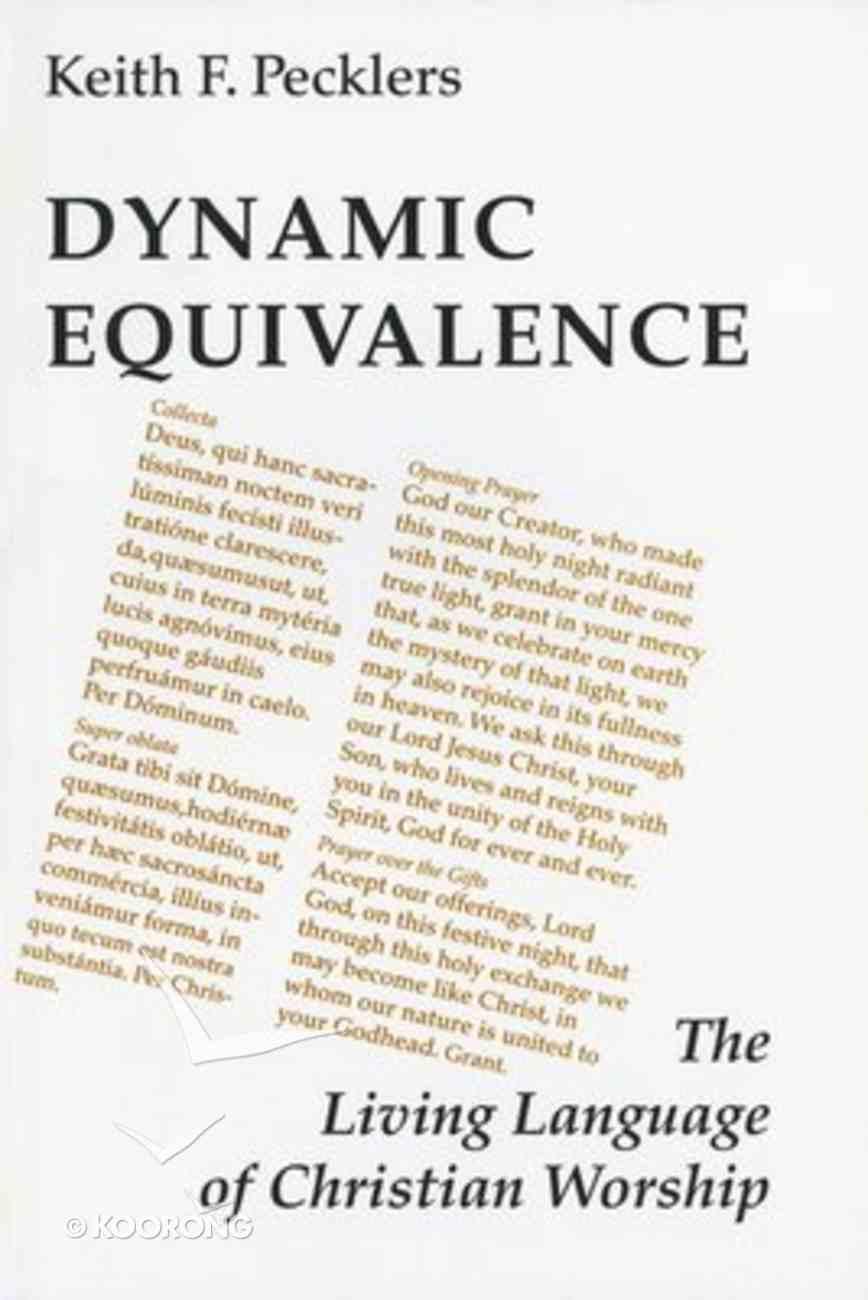 Dynamic Equivalence Paperback