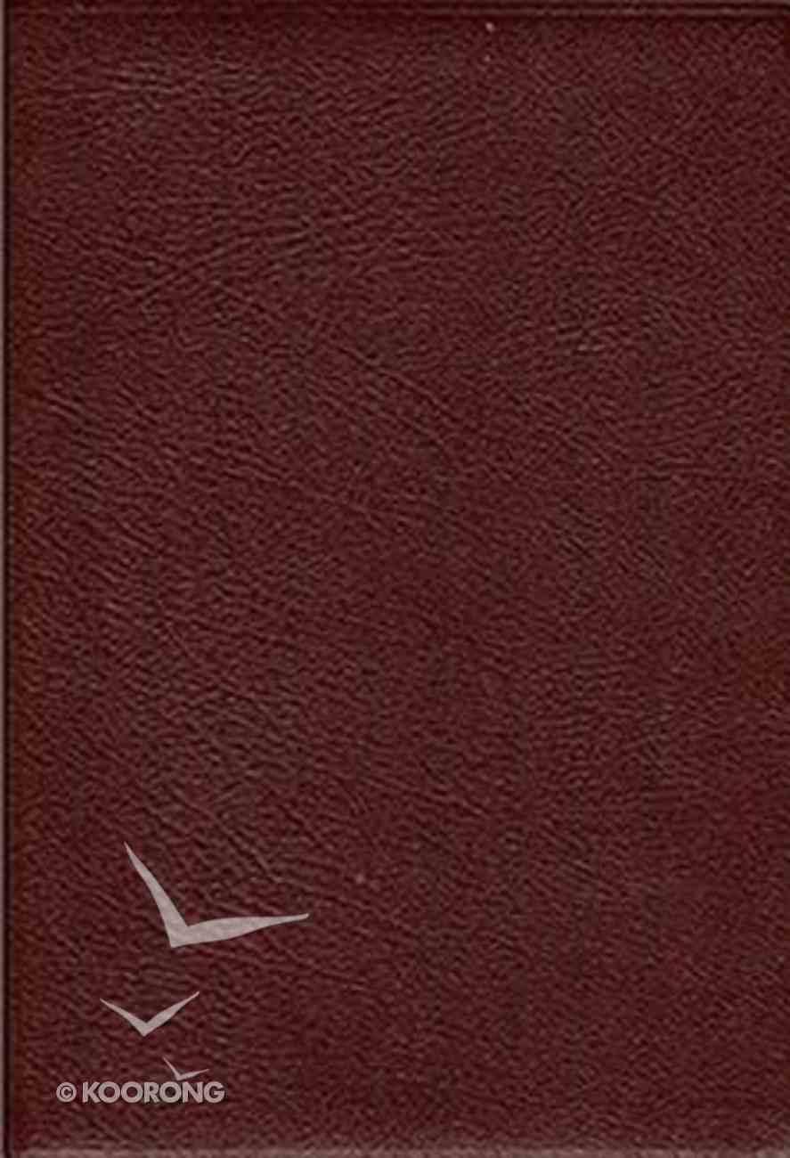 KJV Thompson Chain Reference Handy Size Burgundy Bonded Leather