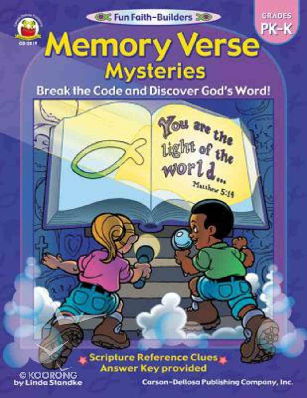 Memory Verse Mysteries (Reproducible; Grades Pk-K) (Fun Faith-builders Series) Paperback