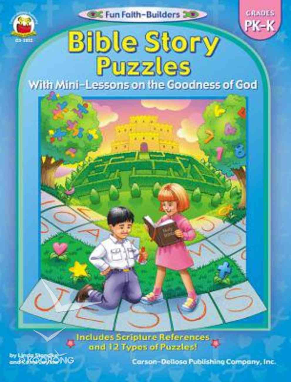 Bible Story Puzzles (Reproducible; Grades Pk-K) (Fun Faith-builders Series) Paperback