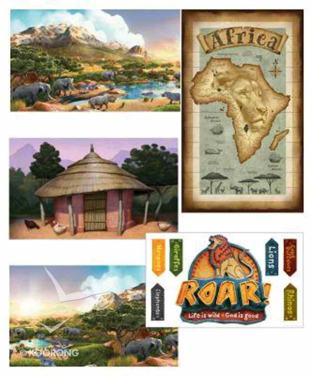 2019 Vbs Roar Giant Decorating Poster Pack (Set Of 5) Pack