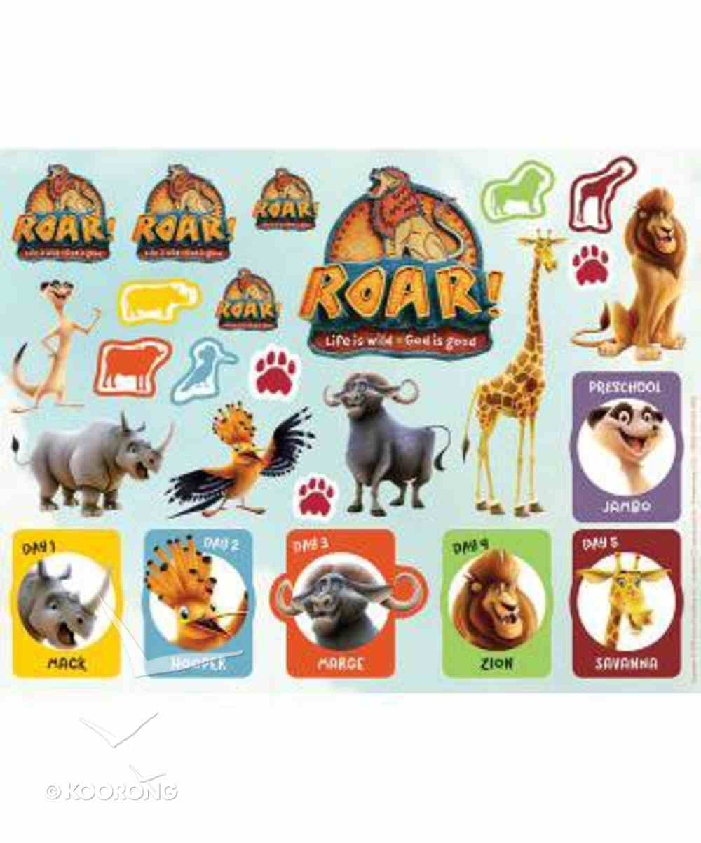 2019 Vbs Roar Sticker Sheets (Pack Of 10 Sheets) Pack