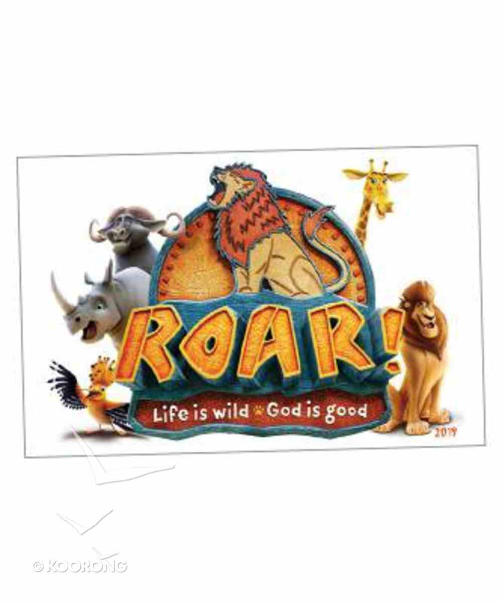 2019 Vbs Roar Iron-On Transfers (Pack Of 10) Pack