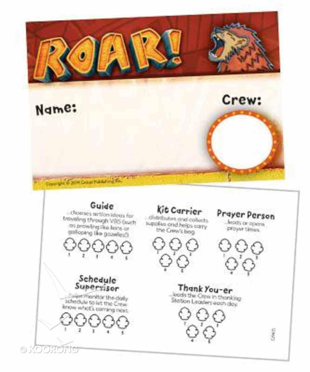 2019 Vbs Roar Name Badges (Pack Of 10) Pack
