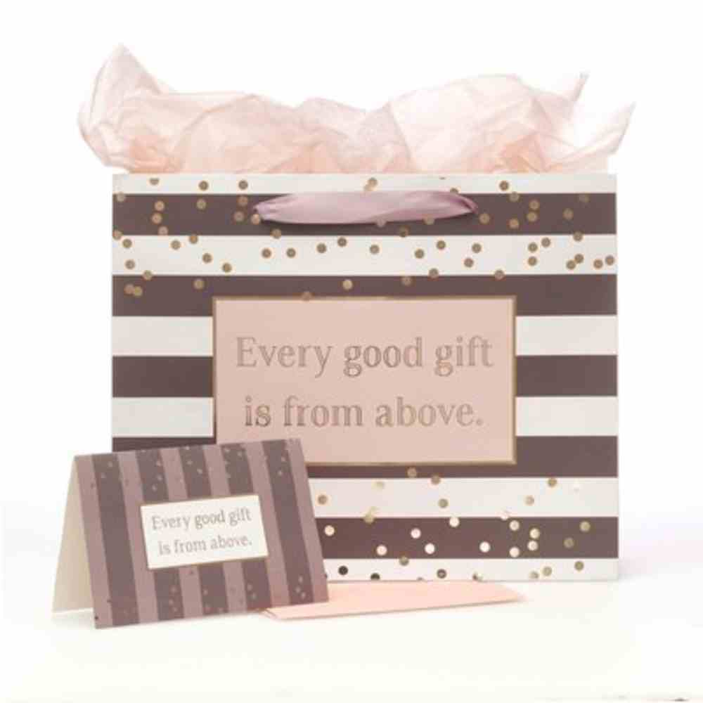 Gift Bag With Card: Every Good Gift, Striped Stationery