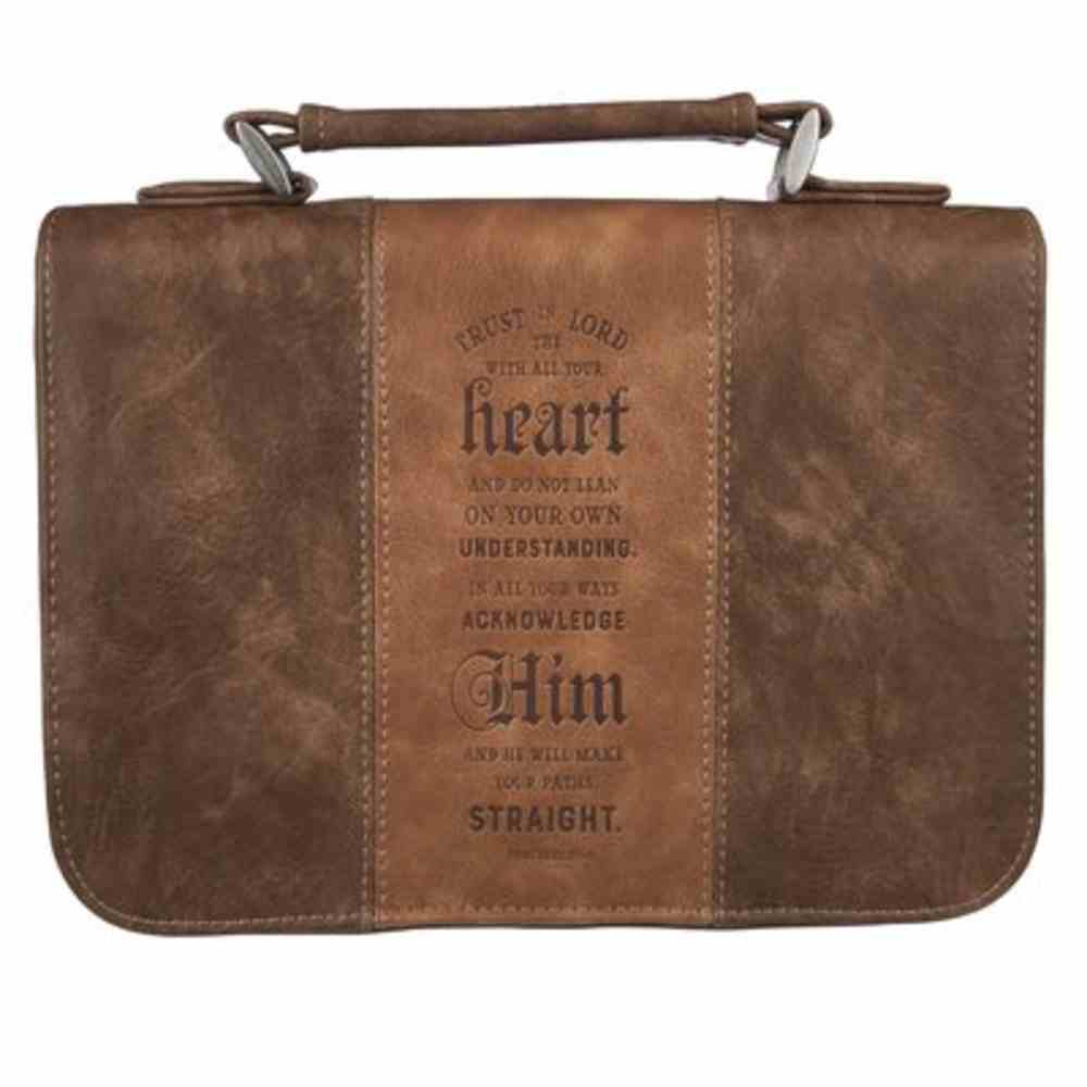 Bible Cover Medium: Trust in the Lord Brown (Prov 3:5) Imitation Leather