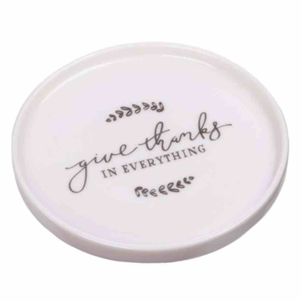 Ceramic Trinket Tray: Give Thanks (1 Thess 5:18) (Give Thanks Collection) Homeware