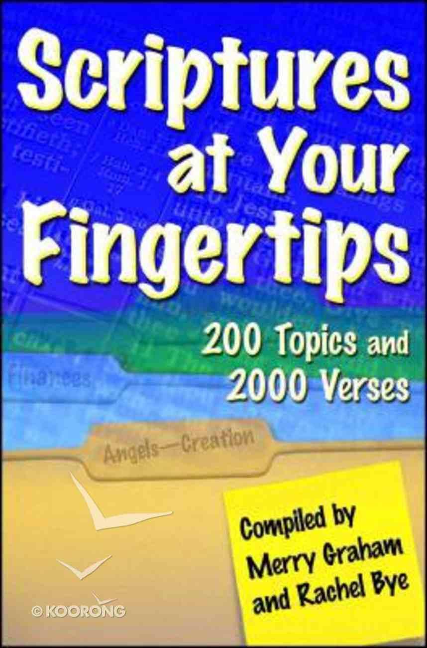 Scriptures At Your Fingertips Paperback