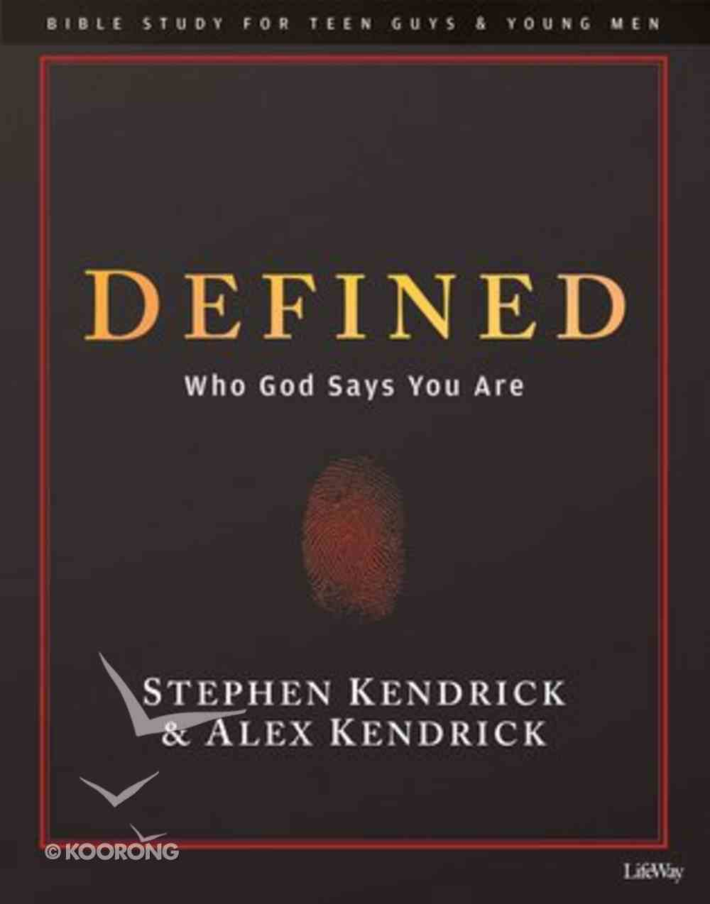 Defined Bible Study (Leader Kit For Teen Guys And Young Men) Pack