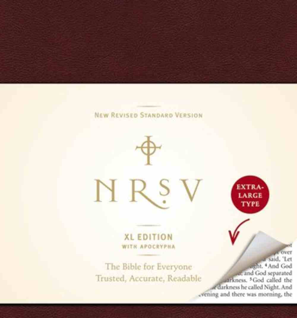 NRSV With Apocrypha Extra Large Burgundy Hardback